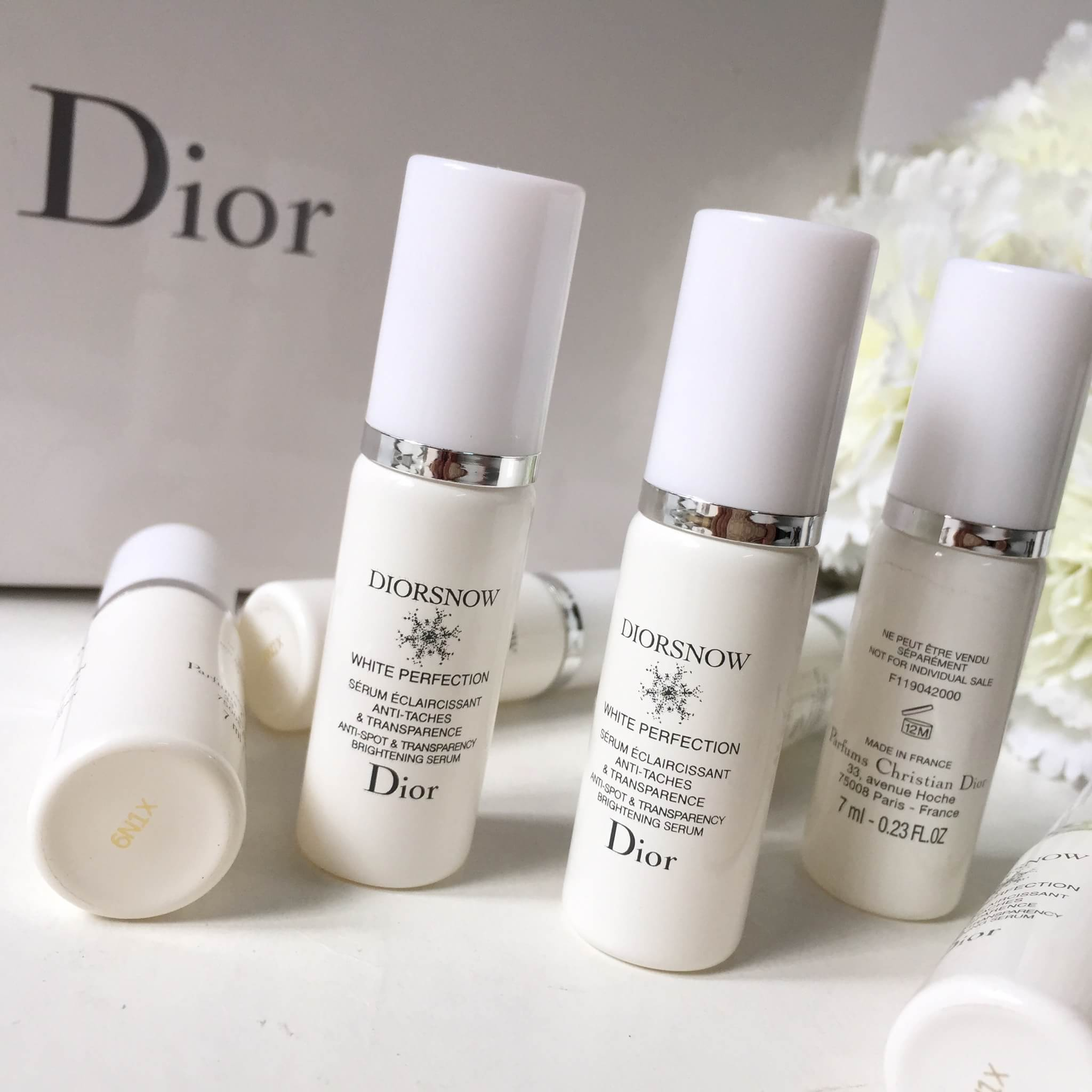 ผลการค้นหารูปภาพสำหรับ Dior Diorsnow White Perfection Anti-Spot & Transparency Brightening Serum 7ml.